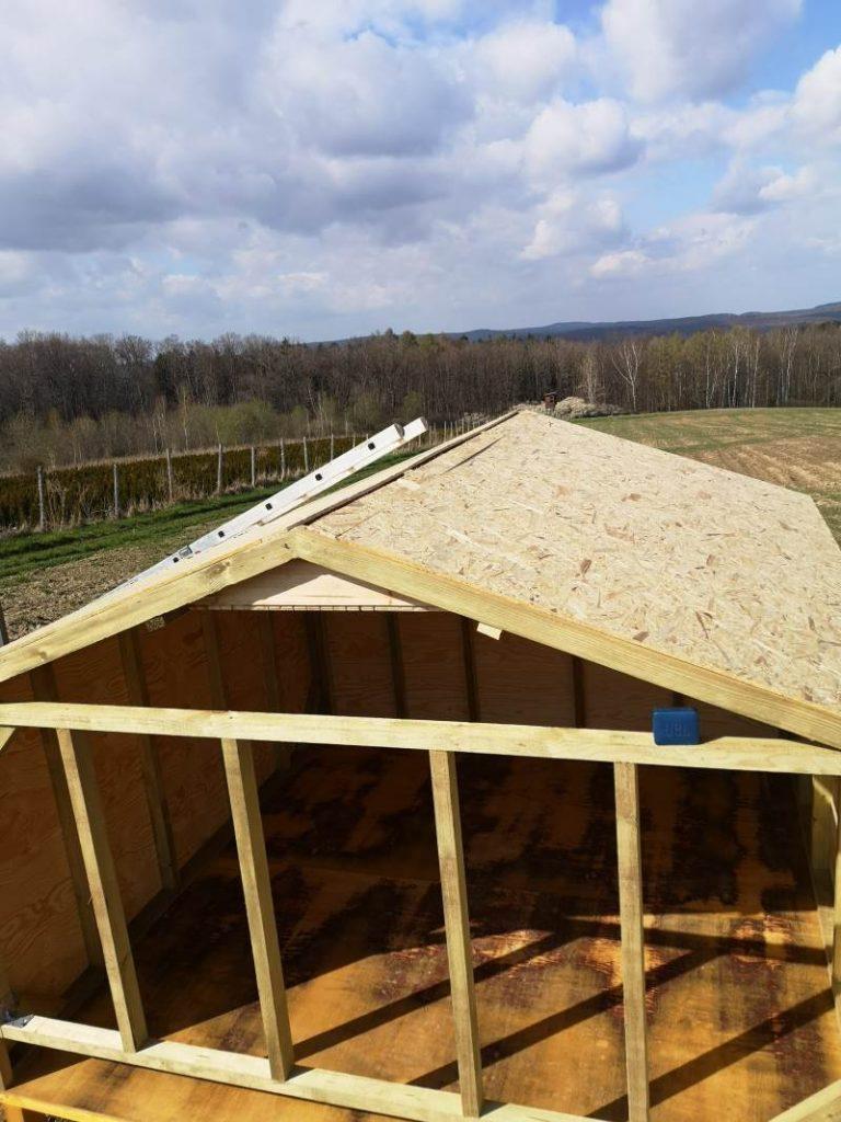 dach pokryty płytami osb