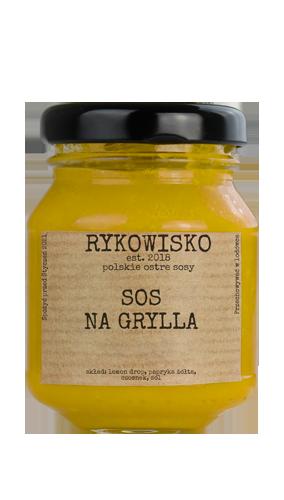 żółty ostry sos