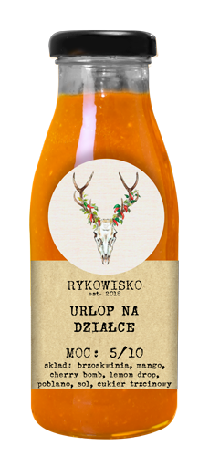 polski ostry sos na bazie mango i brzoskwiń