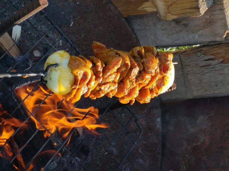 kebab z kurczaka z ogniska