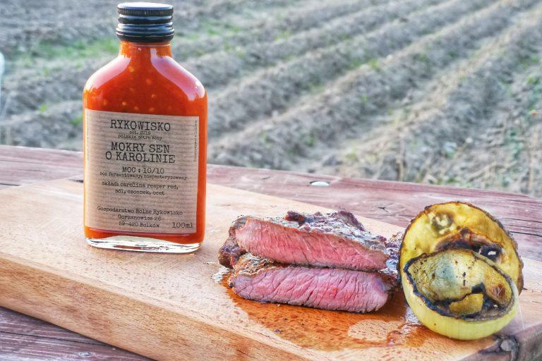 Stek z antrykotu z sosem z Carolina Reaper