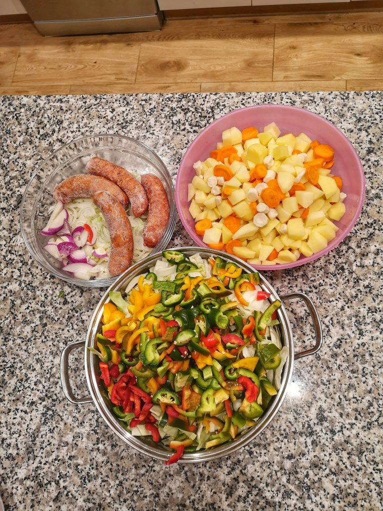 ekologiczne warzywa w kuchni